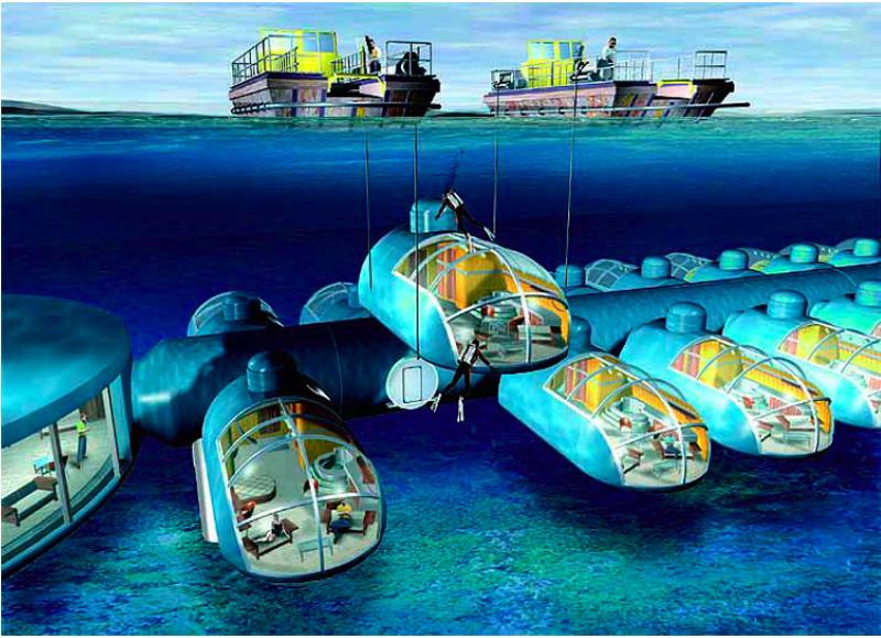 Bien-aimé Hotel sous la mer Poséidon - Fidji - hotel sous-marin | Voyage  WI36