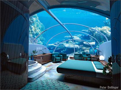 dormir dans une chambre sous l eau au milieu de l oc an voyage insolite. Black Bedroom Furniture Sets. Home Design Ideas