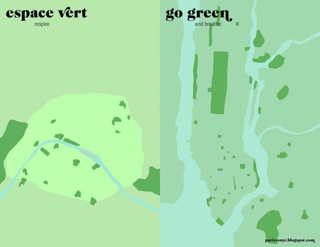 Top 9 des cartes et plans insolites de new york city for Espace vert paris