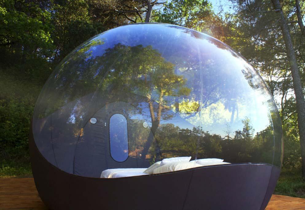 Nouvelle location insolite la maison bulle voyage for Maisons bulles