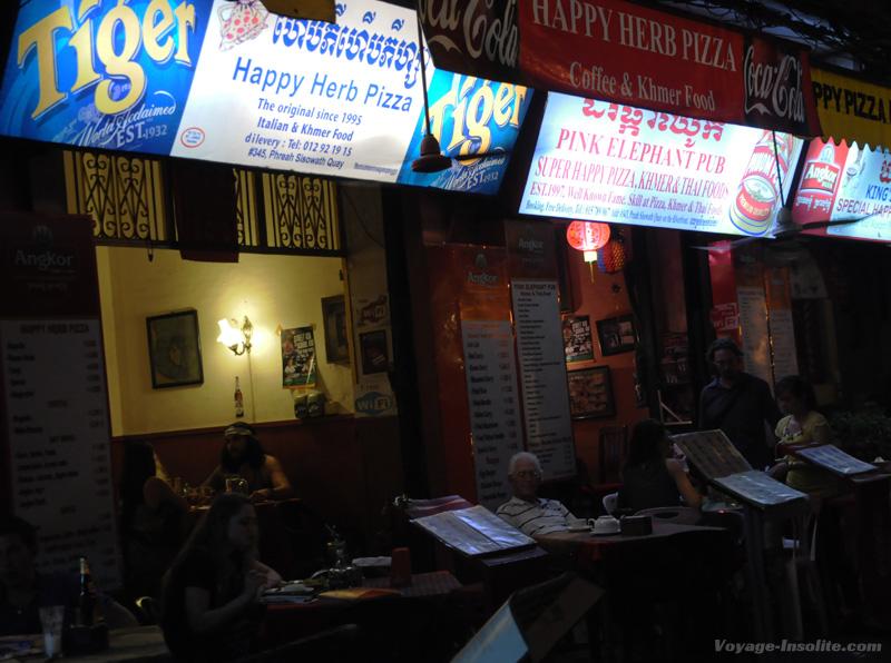 pizza insolite à Phnom Penh