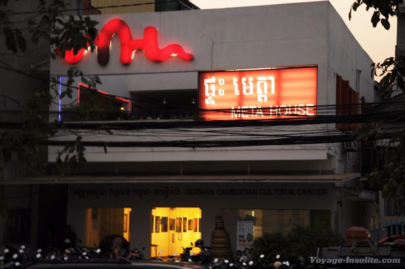 ciné en plein air à Phnom Penh
