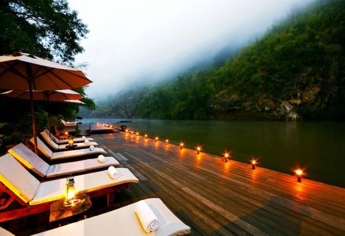 L'hôtel flottant de la rivière Kwaï – Thaïlande