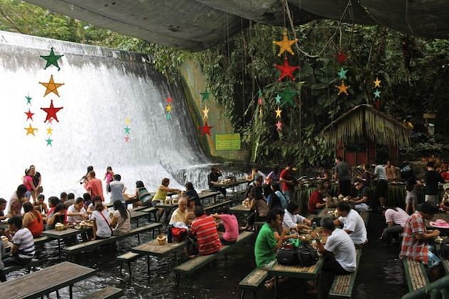Philippines-Villa-Escudero-Waterfall-Restaurant-8
