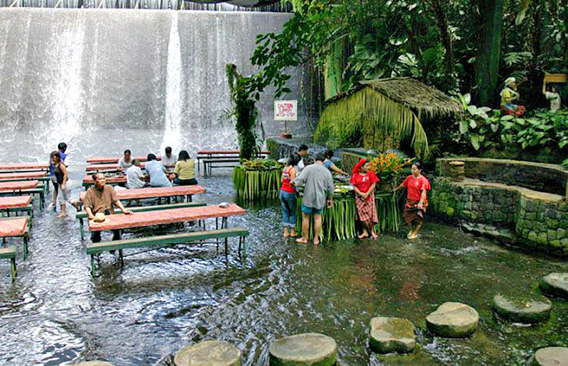 Waterfalls Restaurant, Villa Escudero, Philippines .somewr.com