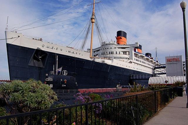 Le bateau de la reine, le Queen Mary est devenu un superbe hôtel