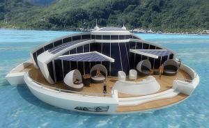 Un incroyable hôtel flottant aux Maldives : Le Solar Floating Island
