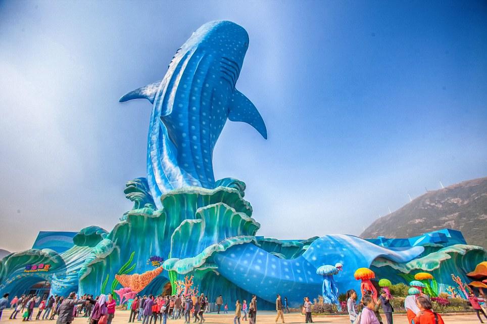 l'aquarium le plus grand au monde en Chine