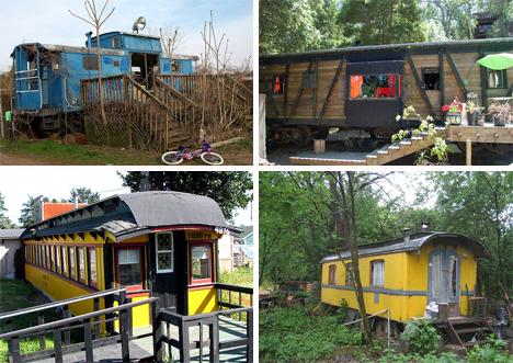 Top 8 des wagons de train recyclés (maisons, hôtels ...