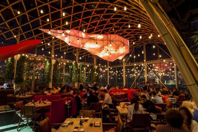 restaurant à Londres avec vue imprenable Sushisamba