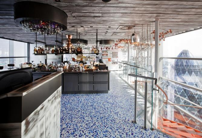 restaurant à Londres avec vue imprenable Coq Argent