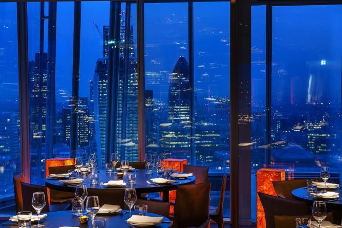restaurant à Londres avec vue imprenable Duck et Walfe