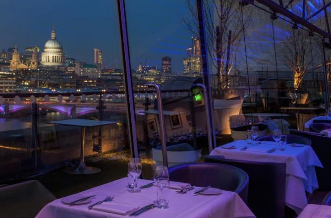 restaurant à Londres avec vue imprenable Oblix