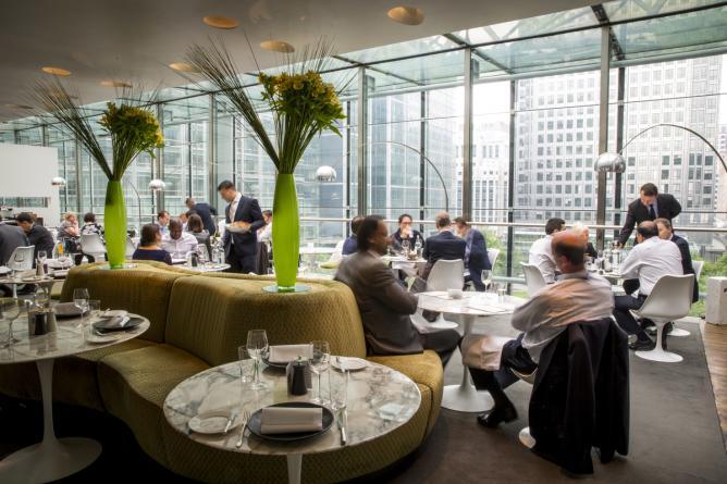 restaurant à Londres avec vue imprenable Paramount