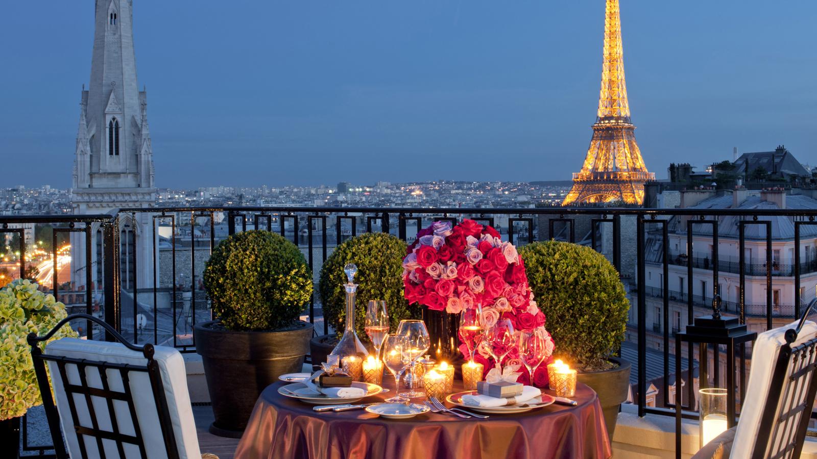Top 20 des destinations des français pour la Saint Valentin
