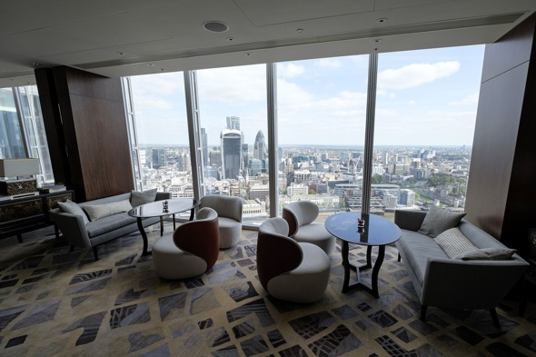 Preview of the Shangri-La Hotel in The Shard skyscraper, London, Britain - 03 May 2014