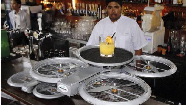 Service drone pour ce restaurant de Singapour