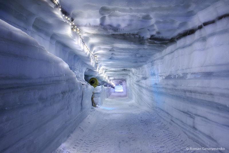Une rave party dans l'un des plus grands glacier d'Europe