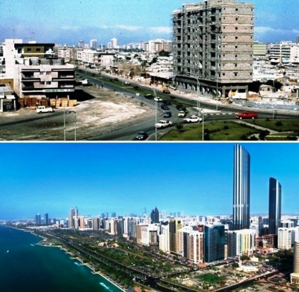 Abu Dhabi avant après