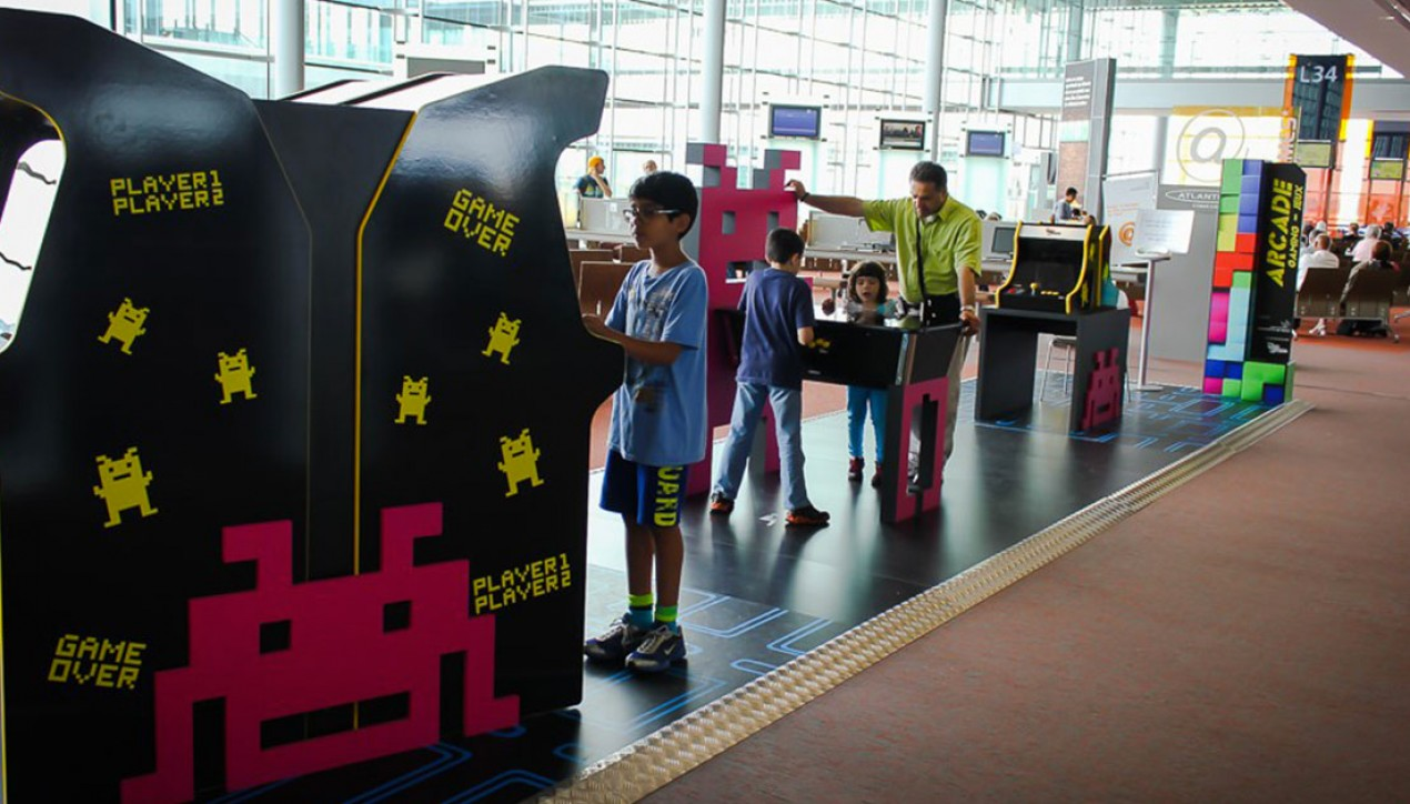 bornes d'arcade aéroport