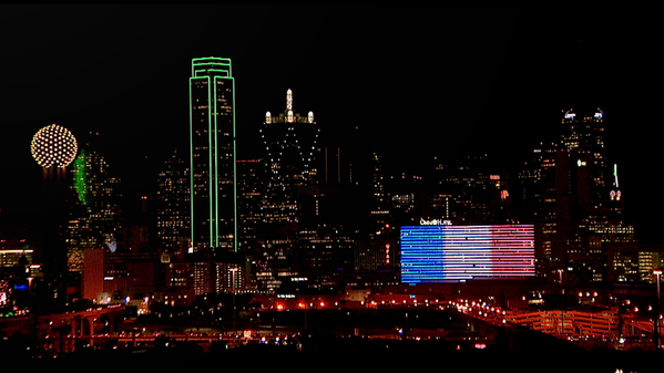 Omni Hotel in Dallas is displaying French flag in solidarity with France.