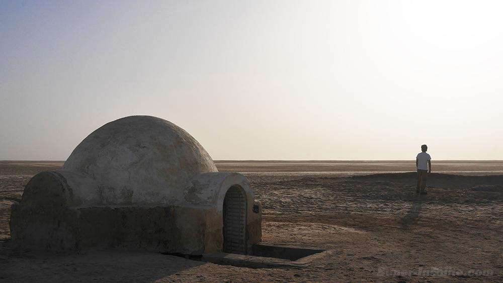 La photo mythique pendant notre voyage Star Wars avec Julien en Luke Skywalker