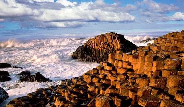 Les orgues basaltiques de la Chaussée des Géants