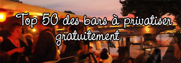 Top 50 des bars à privatiser sur Paris
