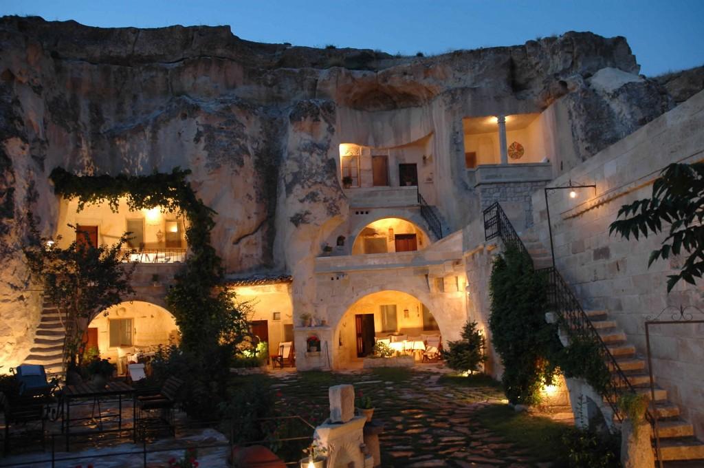 hôtel troglodyte en Turquie