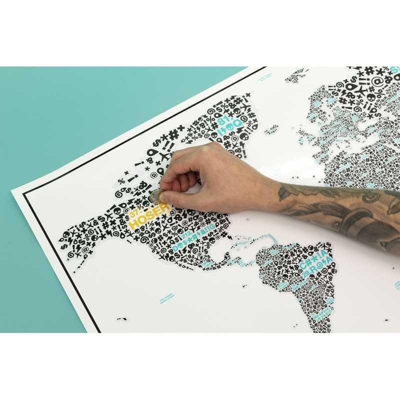 Carte Du Monde Des Gros Mots