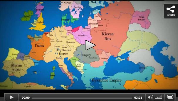 Voyage dans l'histoire : la carte de l'Europe du Moyen Age à nos