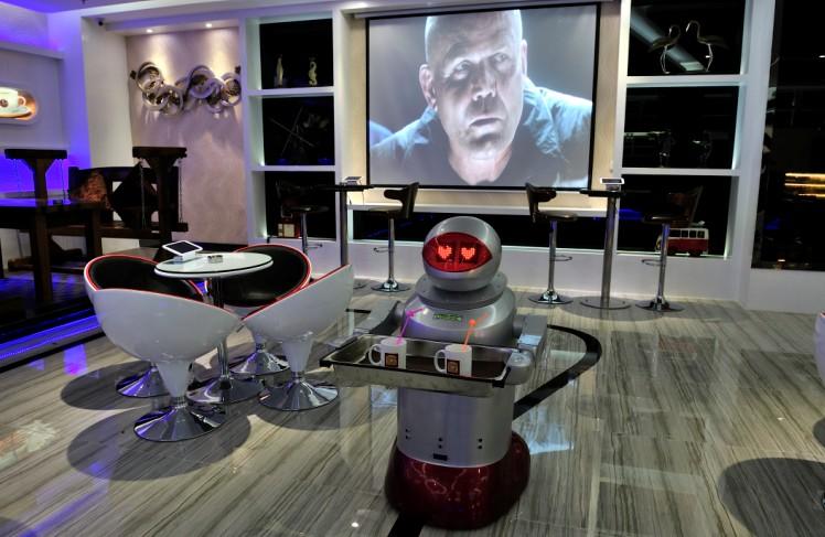 hotel robot en Chine