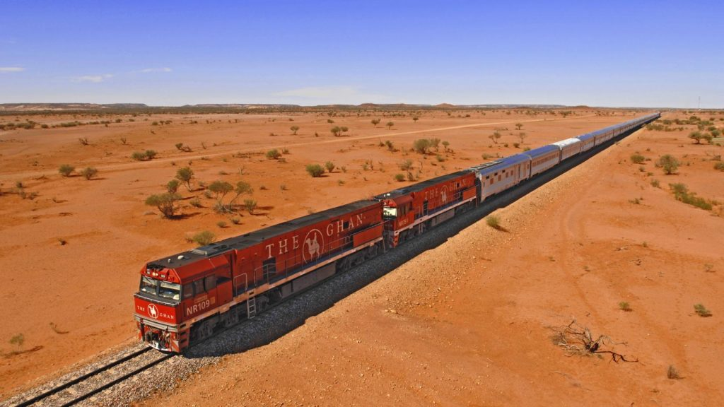 Ghan train Australie
