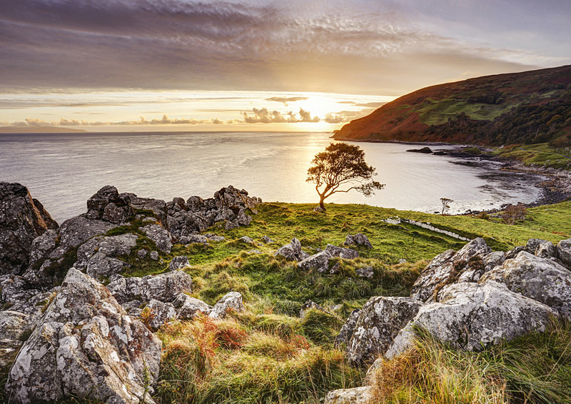 Murlough Bay (Irlande du Nord) : la route de Pike