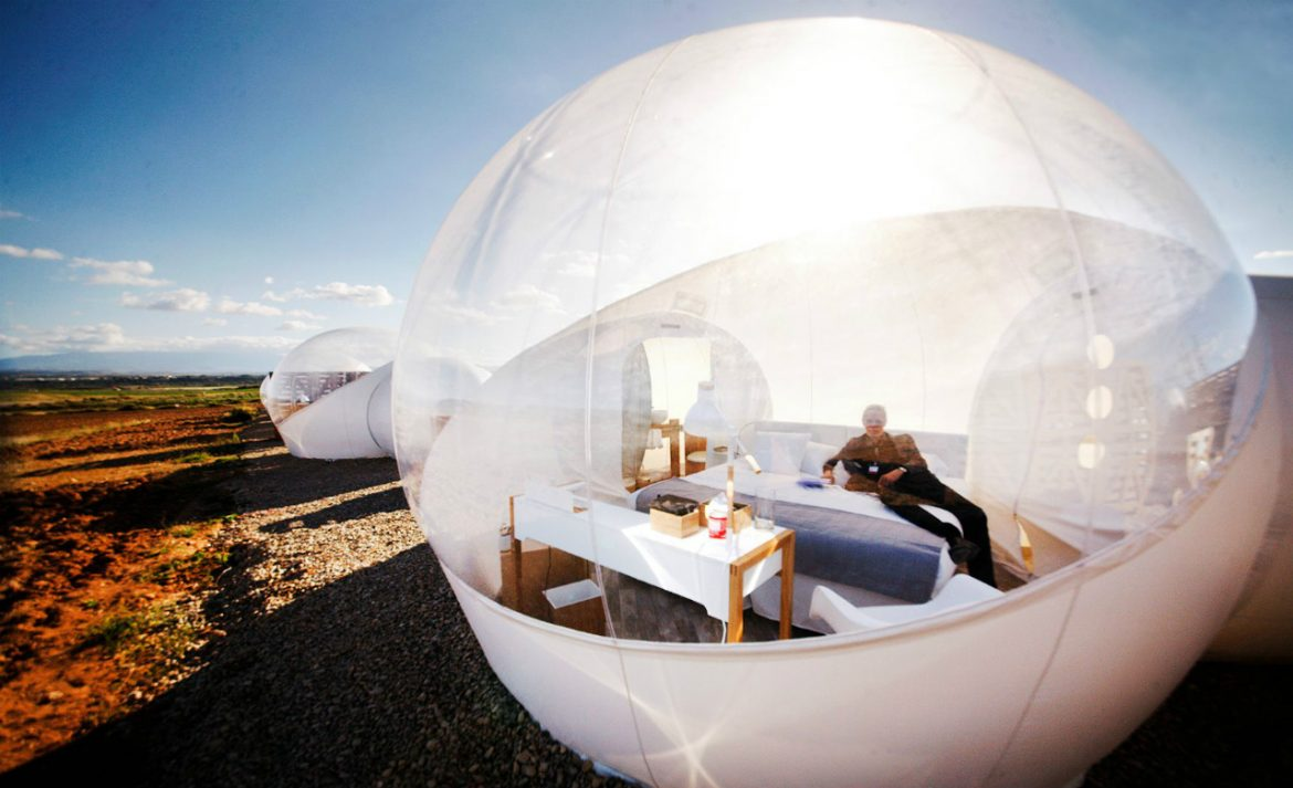 un hotel bulle en plein d sert en espagne voyage insolite. Black Bedroom Furniture Sets. Home Design Ideas