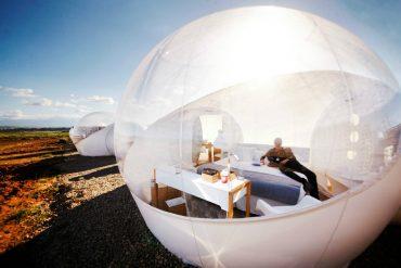 bubble hotel en plein désert