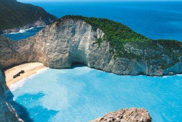 plage de Zakynthos Zante e,n Grèce