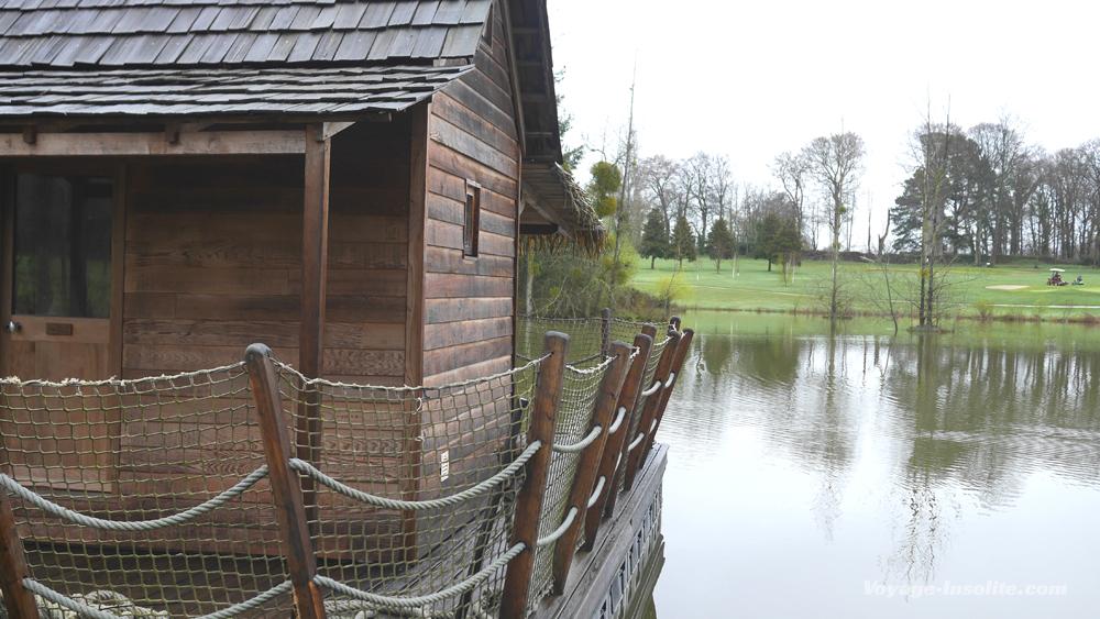 cabane flottante au domaines des Ormes