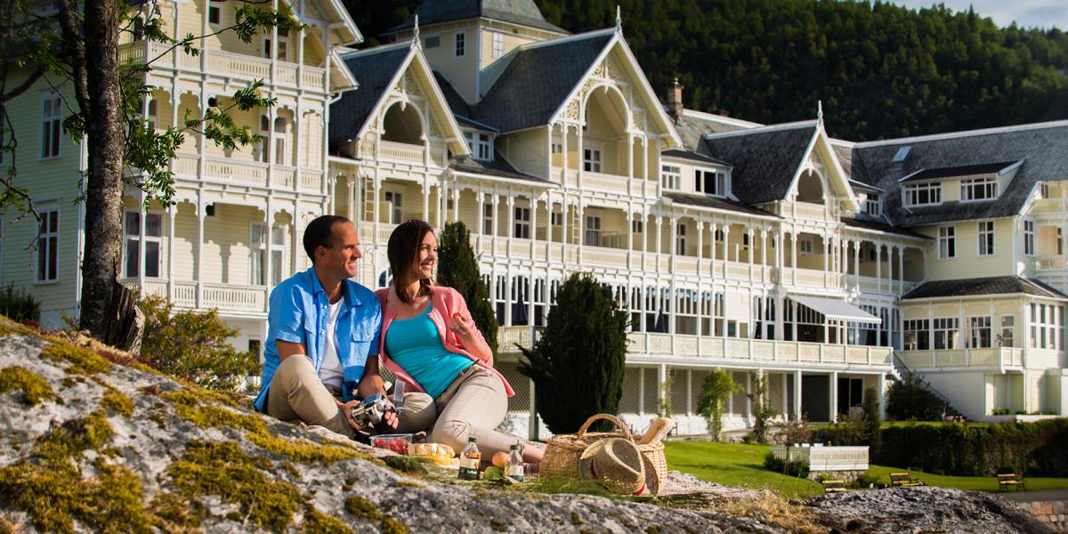 hotel en bois en Norvege