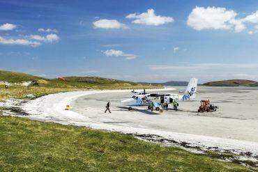 aéroport insolite sur l'ile de Barra
