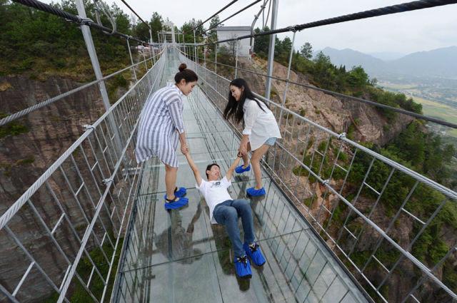 pont en verre en Chine