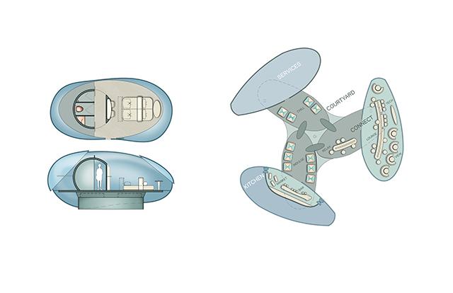 Les plans de la chambre drone