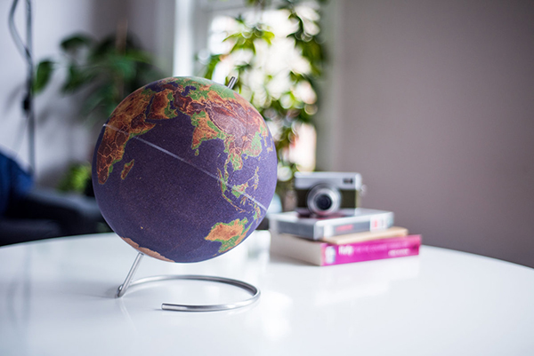 Globe terrestre liege couleur