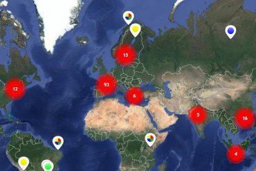 carte du monde de l'insolite