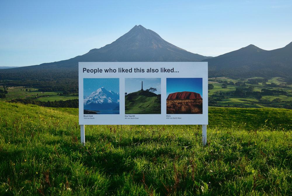 Les recommandations web dans les paysages de Nouvelle-Zélande