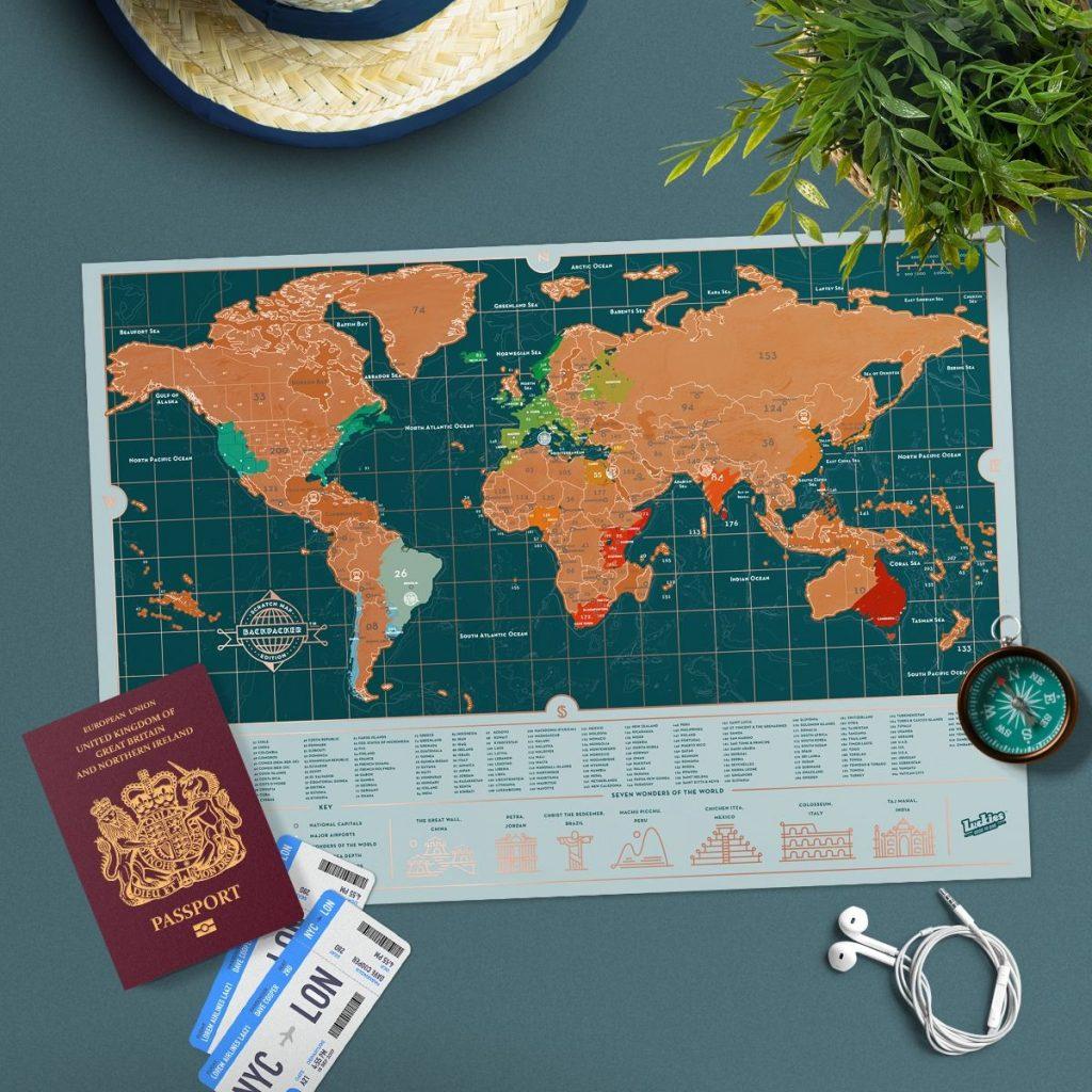 carte du monde à gratter routard
