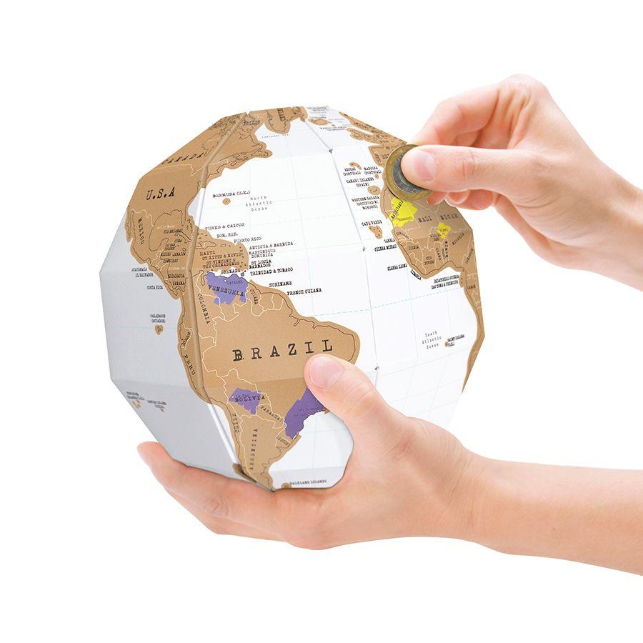 globe terrestre à gratter