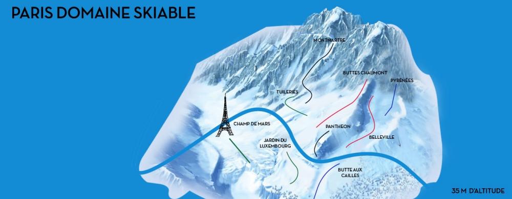 Le domaine skiable de Paris