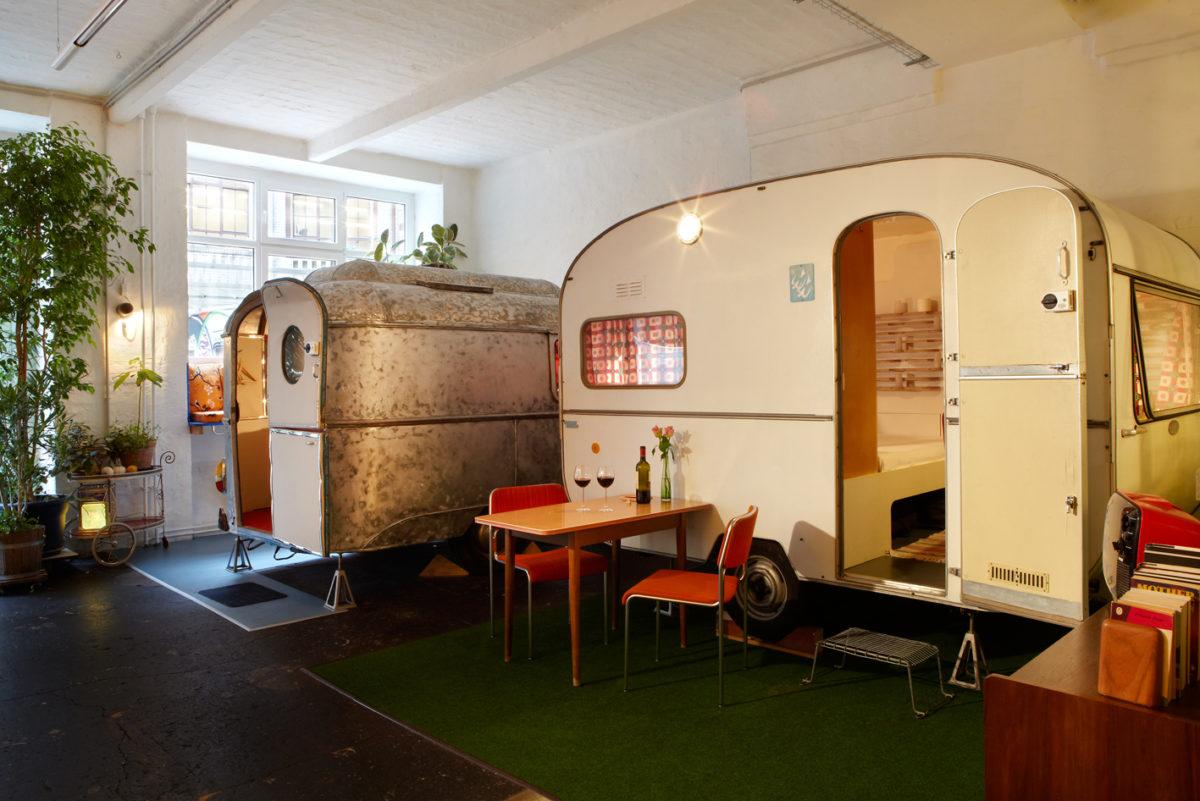 Berlin insolite caravane intérieur