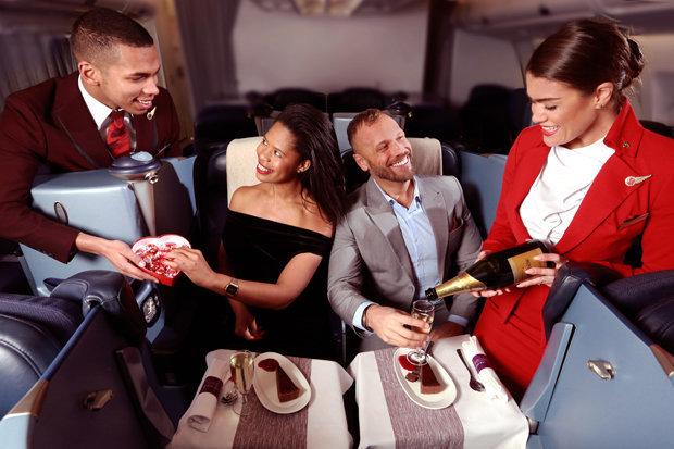 Diner dans avion